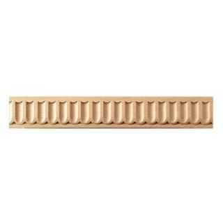 Schnitzleiste 30 x 7  mm, Buche roh Länge 2440 mm  (4 Stück)