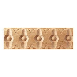 Schnitzleiste 60 x 9  mm, Buche roh Länge 2440 mm