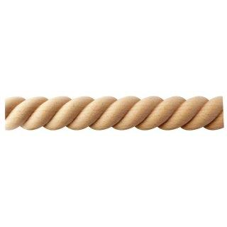 Spiralstab 30 x 14 mm, halbrund Buche roh Länge 2440 mm