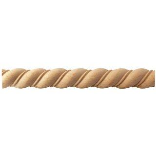 Spiralstab 25 x 12 mm, halbrund Buche roh Länge 2440 mm