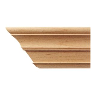 Kranzleiste 63 x 73  mm, Buche roh Länge 2440 mm