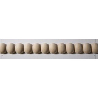 Perlstab Massivholz 18 x 8 mm, Buche roh