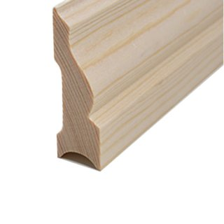 Sockelleiste Massivholz 60 x 20 mm Fichte roh 30 Meter