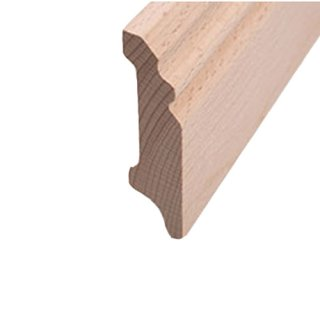 Sockelleiste Massivholz 70 x 18 mm Buche roh 10 Meter