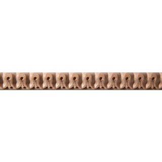Schnitzleiste Massivholz 17 x 10 mm, Buche roh