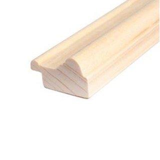 Rahmenleiste Massivholz 29 x 17 mm Fichte roh 50 Meter