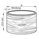 Holzröhre Buche Länge 310 mm Wandung 20 mm