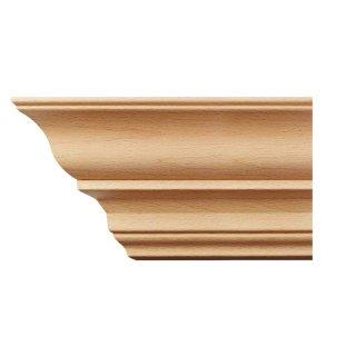 Kranzleiste 98 x 98  mm, Buche roh Länge 2440 mm