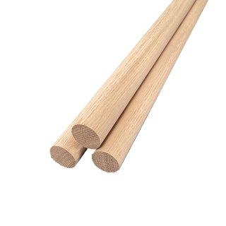Baustoffe & Bauelemente Rundstab Massivholz Glatt Ø 15 Mm Verschiedene Längen Und Holzarten
