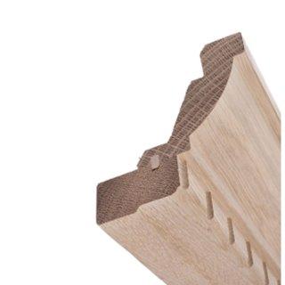 Kranzleiste Massivholz 85 x 85 mm Fichte roh 30 Meter