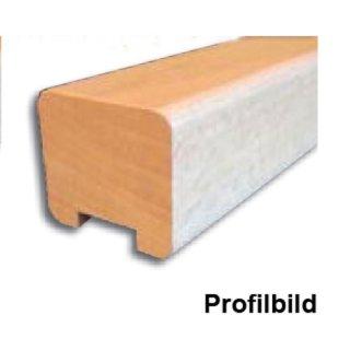 Handlauf Holz rechteckig 45 x 40 mm mit Nut 32 x 7 mm